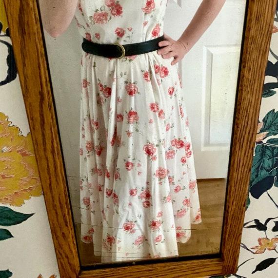 Laura Ashley Cotton Dress // Vintage 90s // Midi … - image 10