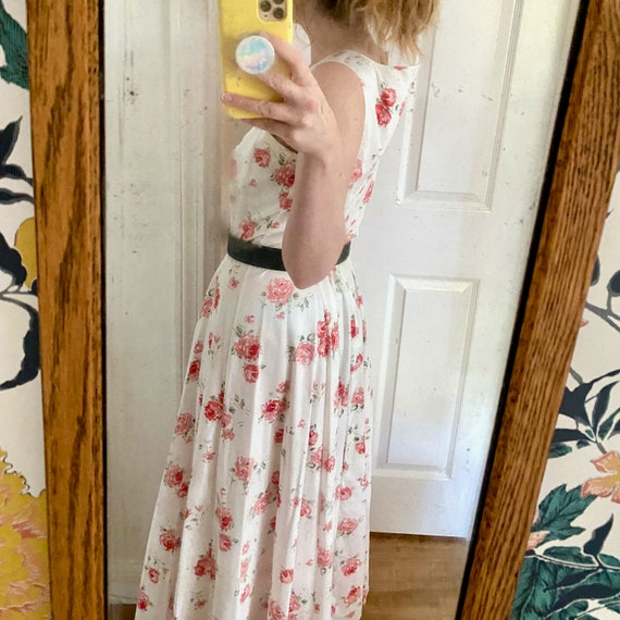 Laura Ashley Cotton Dress // Vintage 90s // Midi … - image 5