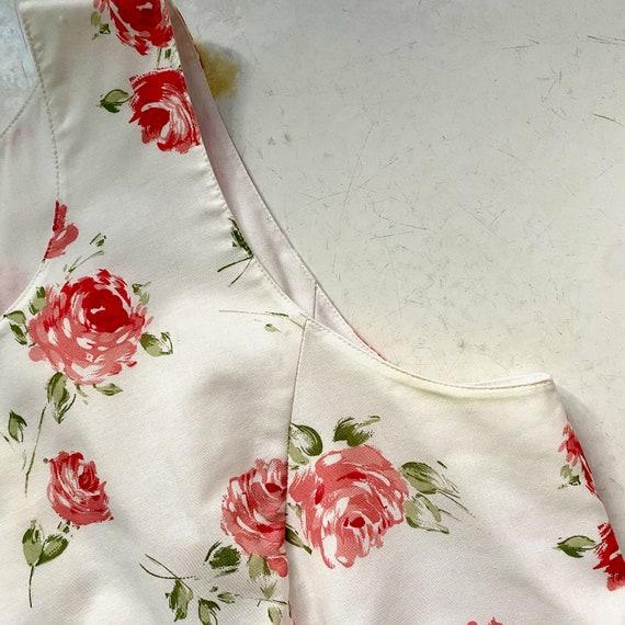 Laura Ashley Cotton Dress // Vintage 90s // Midi … - image 6