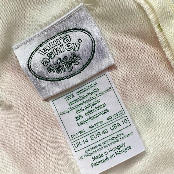 Laura Ashley Cotton Dress // Vintage 90s // Midi … - image 9