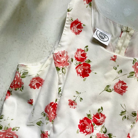 Laura Ashley Cotton Dress // Vintage 90s // Midi … - image 4