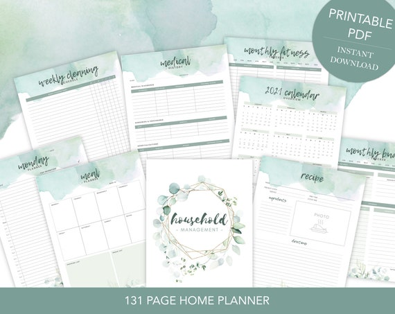 Ultimate Home Management Planner Printable Household