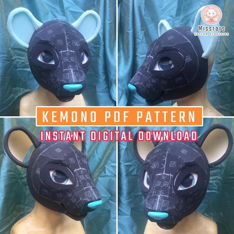 PDF PATTERN Big Cat 'NERO' Kemono 'K-Fusion' image 1