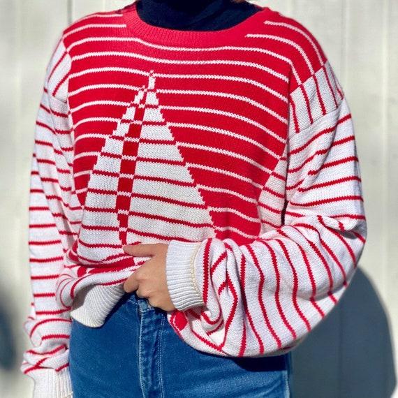 Vintage 70s Sailboat Novelty Sweater.