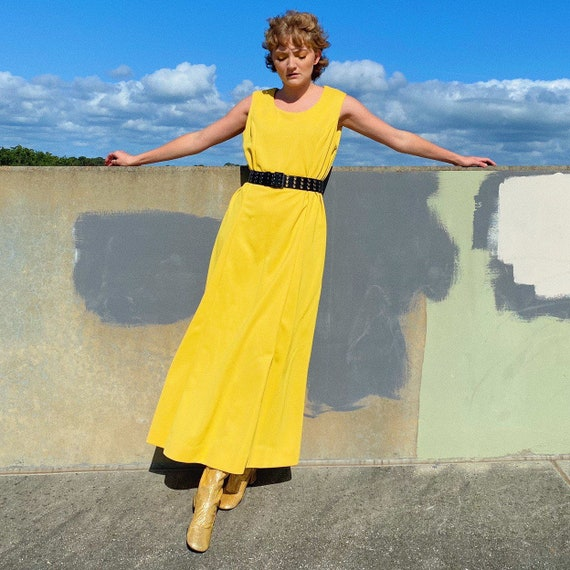 70's Yellow Maxi Dress.