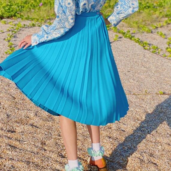 Vintage 70s Blue Skirt Suit.