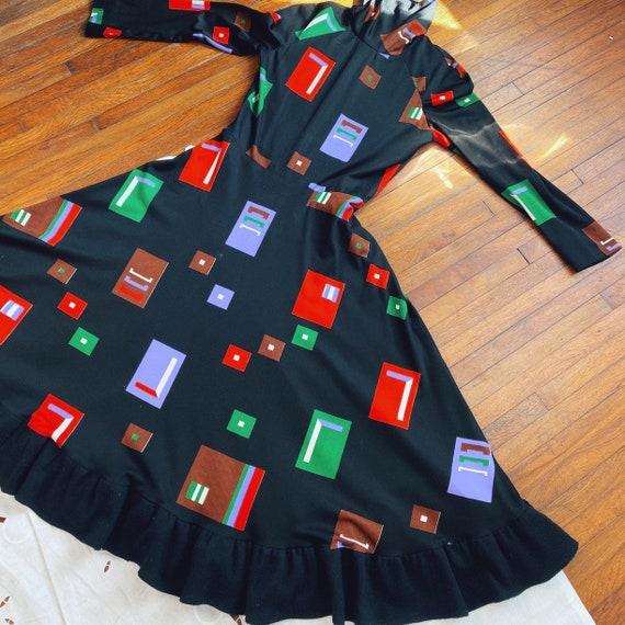 1960s vintage mod print gown.