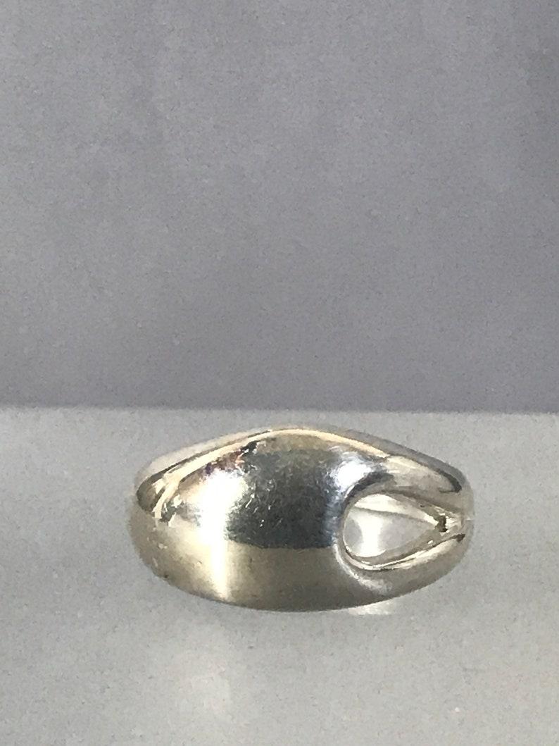 Sterling Silver Vintage Tear Drop Hole Ring