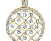 Floating Diamond Pendants