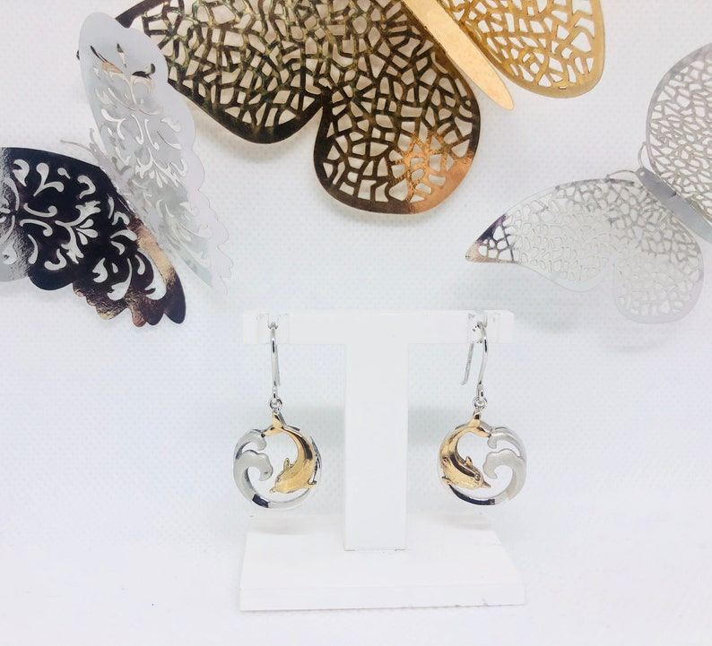 Dolphin Wave Earrings image 0