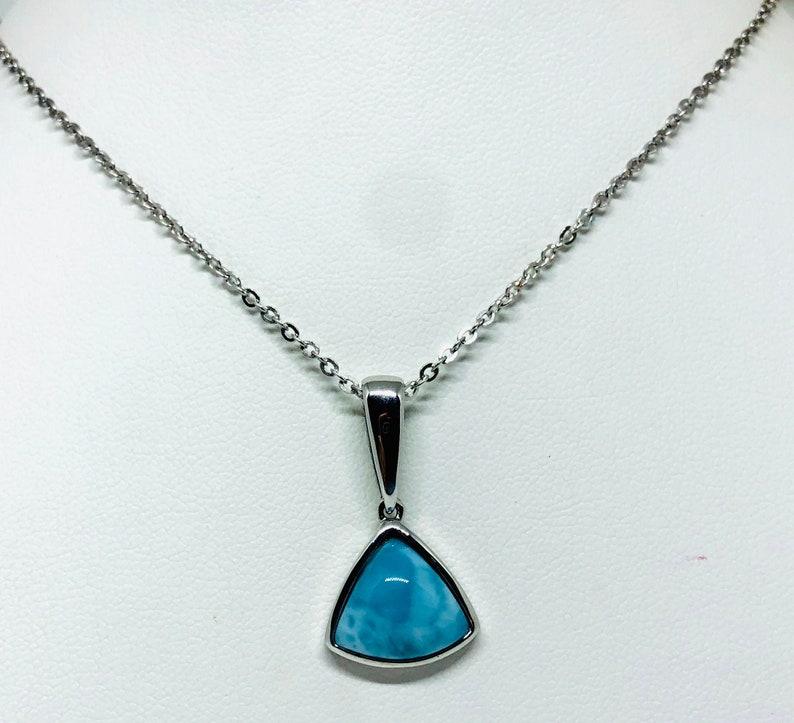 Triangle Larimar Necklace image 0
