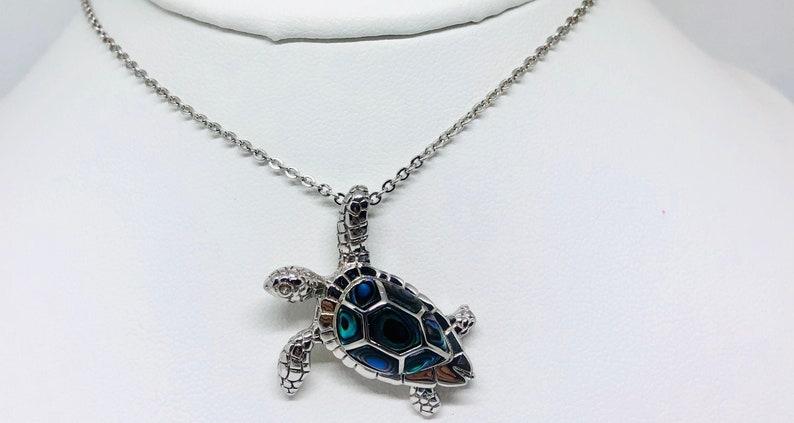 Abolone Sea-turtle Necklace image 0