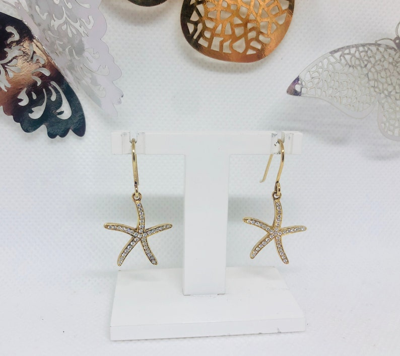 Starfish Earrings Gold