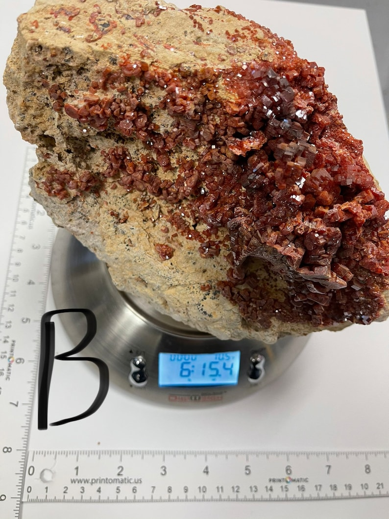 Natural Vanadinite Mineral Large pcs 1 of each  Origin Morocco Red Vanadinite specimen Rare Vanadinite crystal