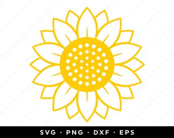Sunflower Outline Etsy Here you can explore hq sunflower outline transparent illustrations, icons and clipart with filter setting like size, type, color etc. sunflower outline etsy