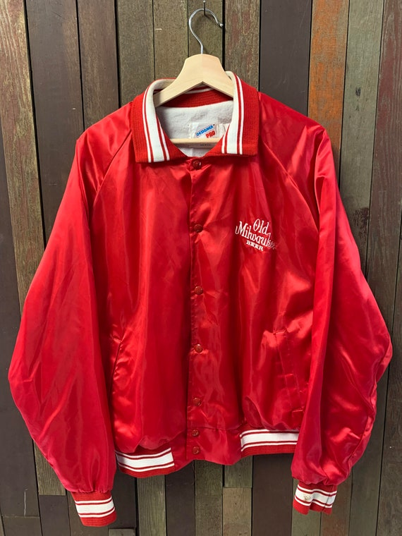 Vintage 1980s Old Milwaukee Beer Sports Bomber Jac