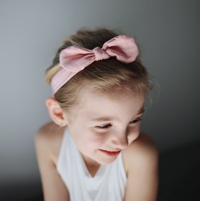 blush ripple top knot head wrapbaby headbandsknit headbandstoddler headbandsbaby girl bownewborn headband