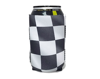 Checkered Flag Cozie Personalized Dirt Track Wife Cozie Personalized Checkered Flag Can cooler Dirt Track Wife Cozie