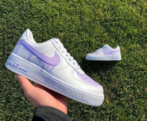 Light purple drip Custom Nike Air Force