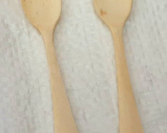 Antique Bone Spoons Etsy