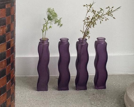 1990s Ikea Squiggle Vase Set in Beautiful Purple