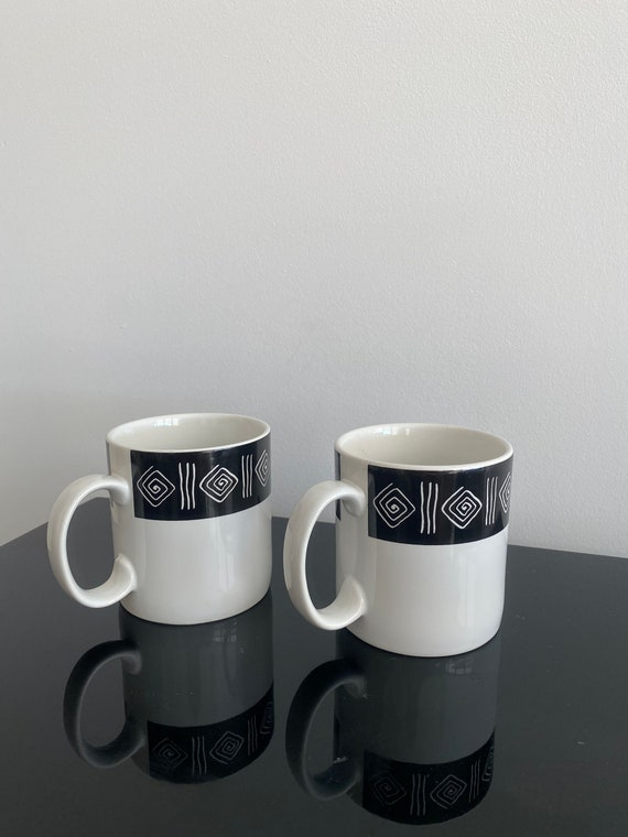 Contemporary Casuals Swirl Wave Mug Coffee Cups