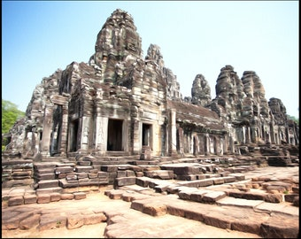 No Physical Product Cambodia High Resolution PNG Digital Design Digital Download Faces of Bayon Temple