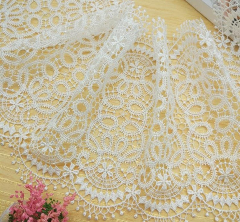 1 yard white scallop lace lace vintage lace decoration DIY sewing wedding bride handmade home decoration