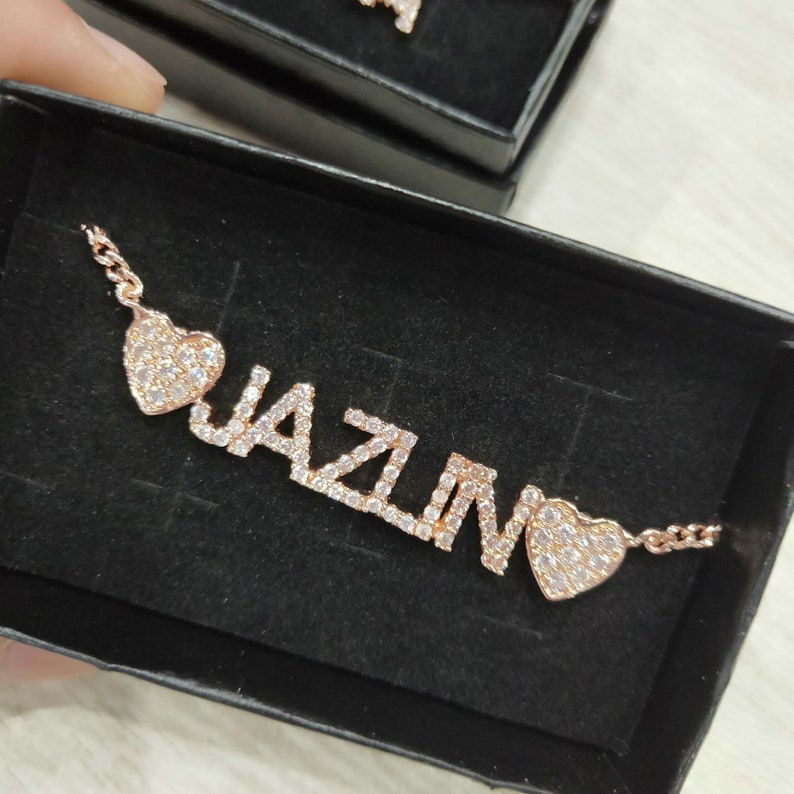 Name Necklace Rose Gold Name Necklace Name Necklace Silver Name Necklace Gold Necklace Name Sparkle Name Necklace Custom Necklace