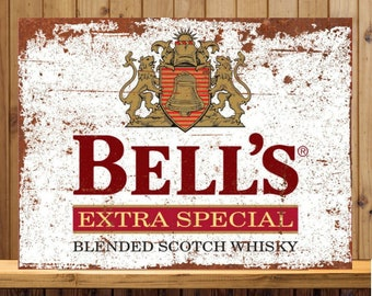 Bells old Retro Whiskey METAL SIGN 2 Sizes Available ideal for pub bar Man Cave