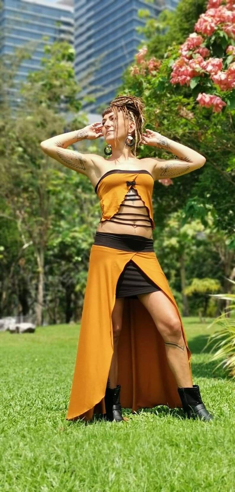 Boho Skirt Boho Dress Witch Dress Boho Top Alternative Fashion Comfortable Boho Ensemble Festival Clothing Pixie Clothing