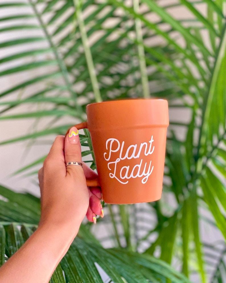 Plant Lady Cursive Terra-cotta Pot Mug image 0