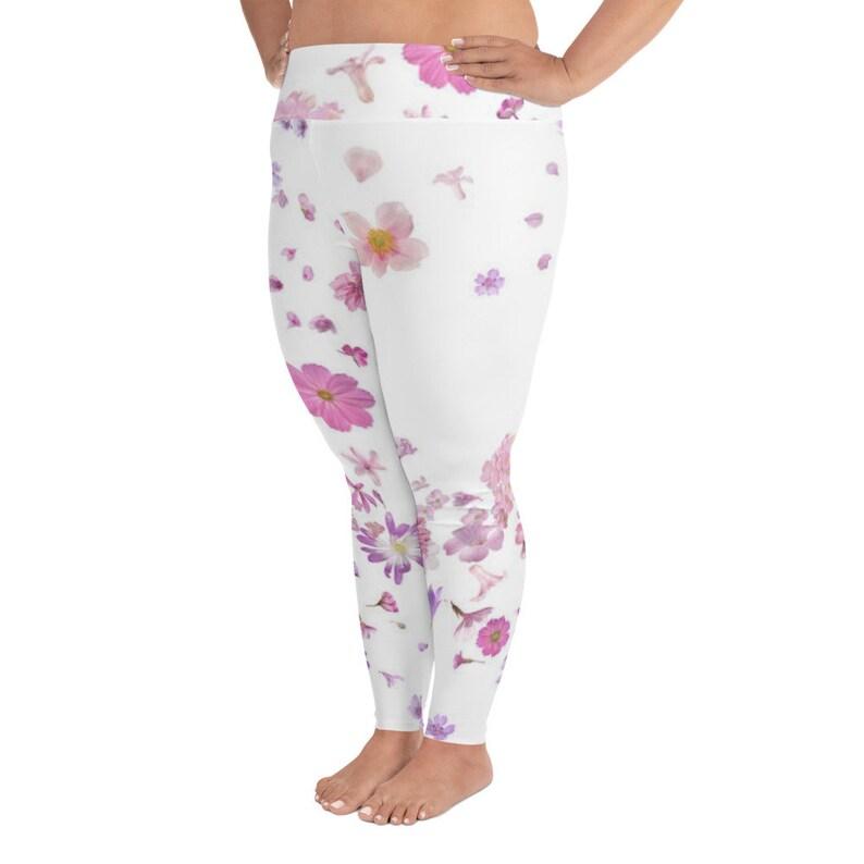 Floral Plus Size Leggings plus floral yoga pants plus workout pants