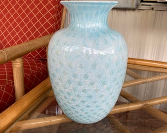 Stunning bubbles vase silver foil by baronies blue powders