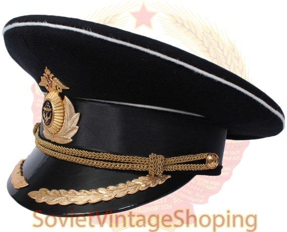 Russian Army MARINES visor hat Soviet NAVAL Captai