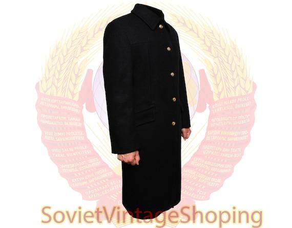Soviet Navy woolen long winter military Coat Russi