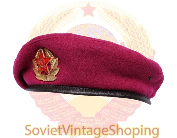 Soviet Army Pink beret Russian military OMON hat A