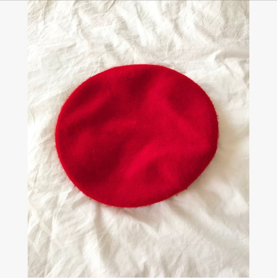 1960s Red Wool Beret