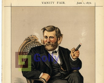 GRANT HERO OF OUR TIME IS DEAD BY THOMAS NAST HARPER/'S WEEKLY GENERAL ULYSSES S