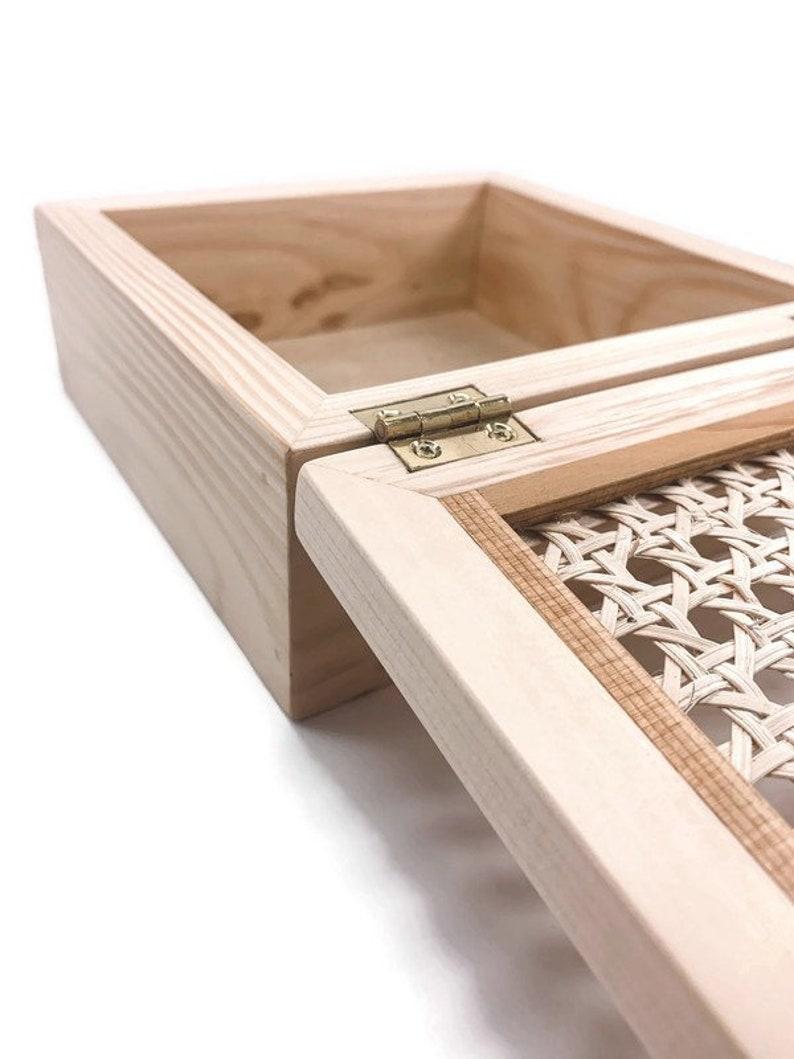 Keepsake box Jewelry box Wooden box and Rattan Cane Wooden gift box