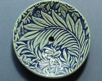 FLORAL II ceramic soap dish