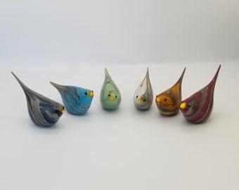 Lido Murano Glass Bird, Hand Blown Glass Bird, Collectible , Lucky