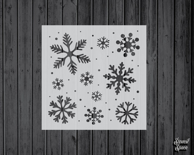254 Stencils for Painting Stencils Mylar Craft Stencil Assorted Sizes Snowflakes Stencil Snowflake Christmas