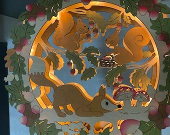 Autumn wreath Schwibbogen