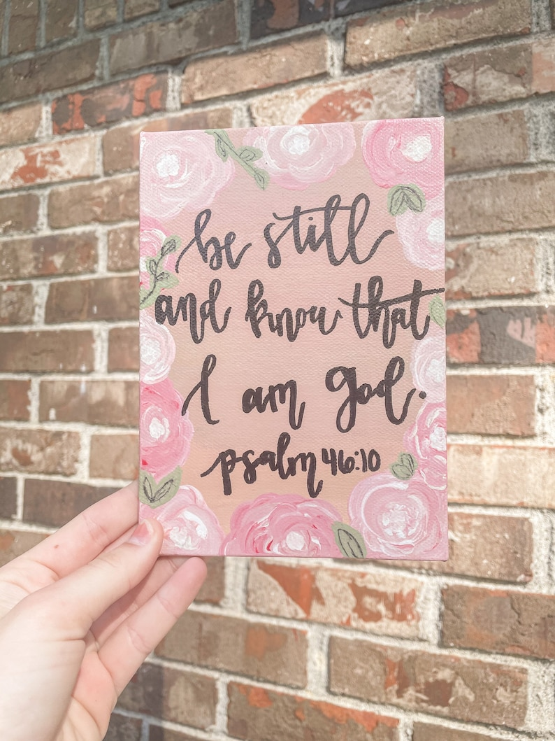 Psalm 46:10 Painted Panel