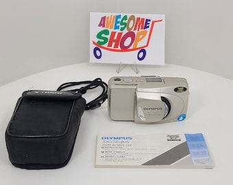 Olympus Infinity Stylus Zoom 80 Wide DLX Point and Shoot 35mm Film Camera - Fully Functional