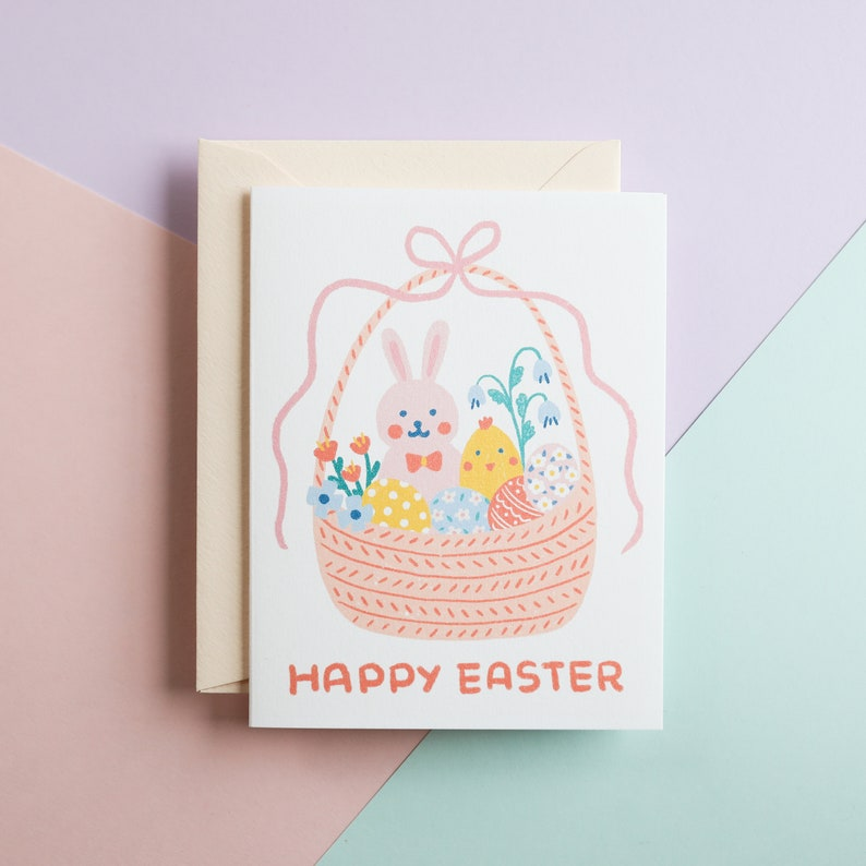 Easter Basket Greeting Card Happy Easter You are my kind of Chick Easter Chick Quarantine social distance check in card