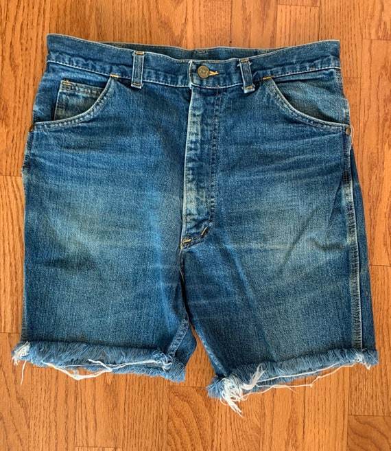 1970s Carhartt Heart Logo denim cut off shorts