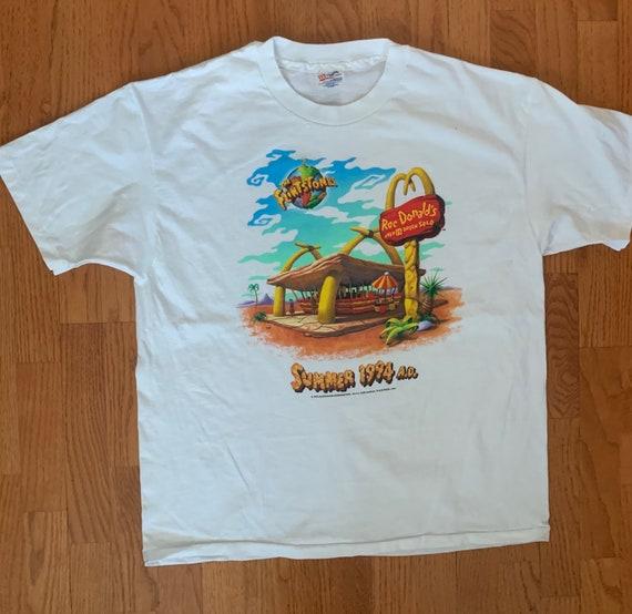 1994 Flintstones Rockdonalds Movie Promo Shirt