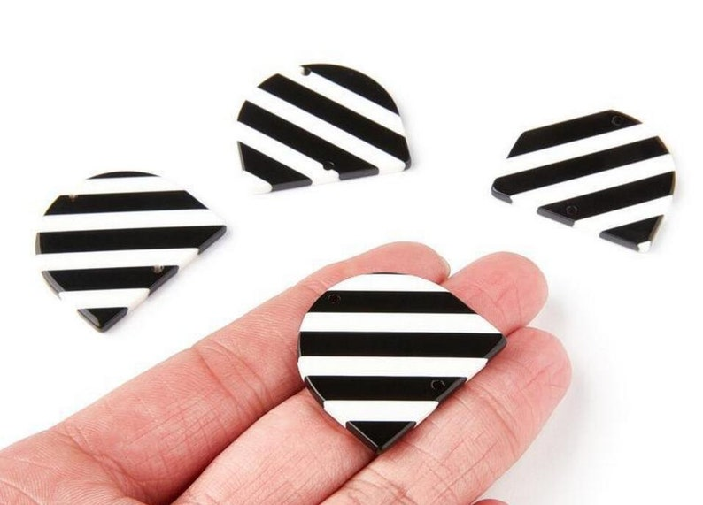 D Shape pendant Earring connector-Earring findings-jewelry supply 34*29mm CD1634F 6pcs Tortoise Shell Acetate Acrylic Earring Charms